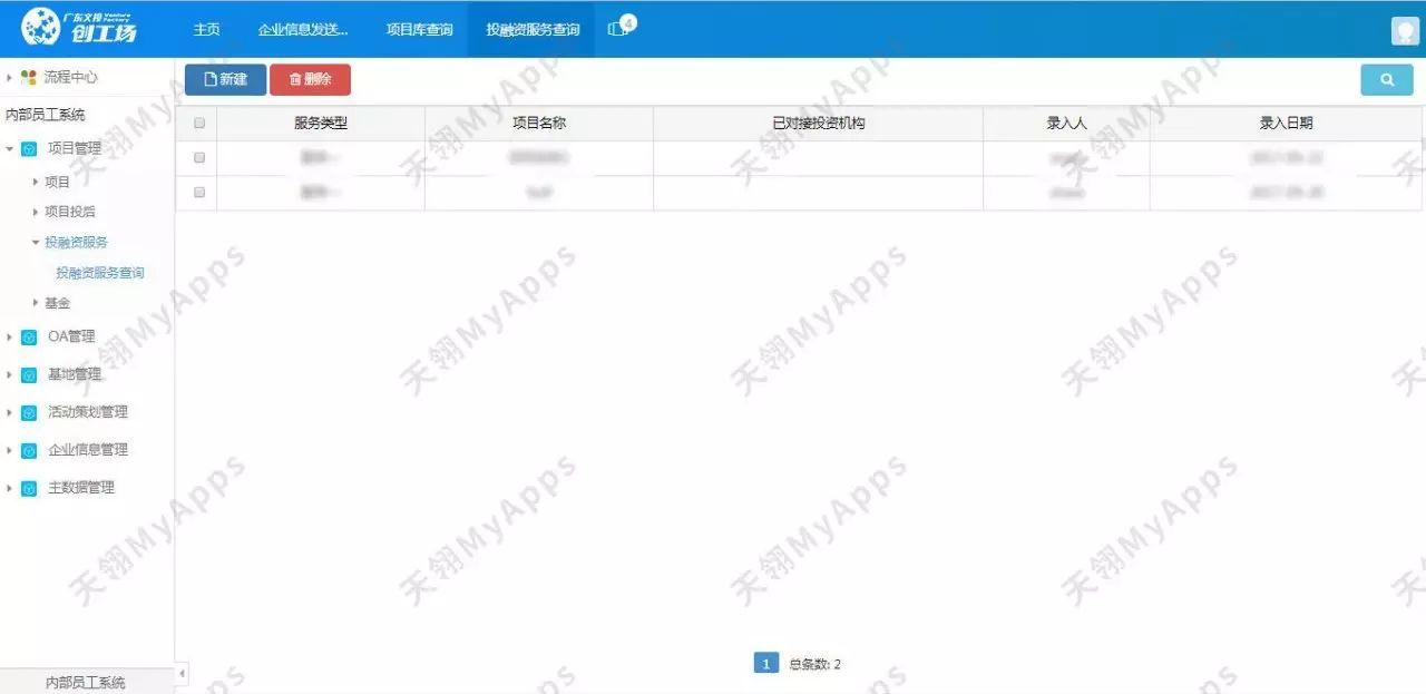 文投创工场 - 孵化器信息管理平台